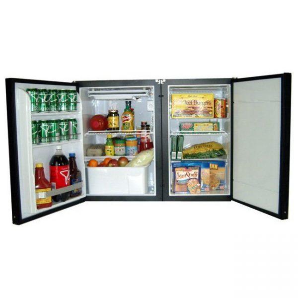 Nova Kool RFS6513 6.4 CU FT Side By Side Refrigerator & Freezer AC/DC or DC only