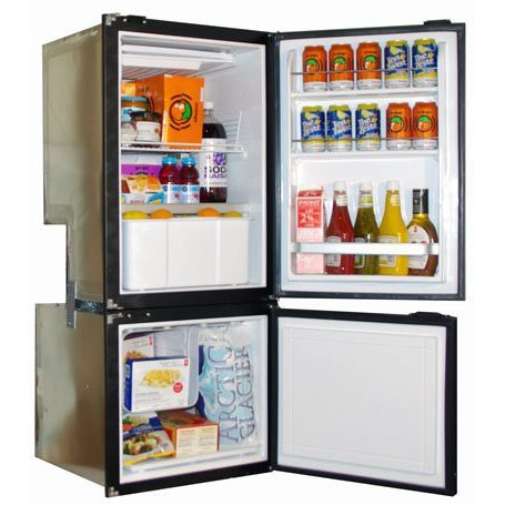 Nova Kool RFU6200 170L Two Door Refrigerator with convenient Freezer on the bottom AC/DC or DC Only.