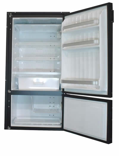 Nova Kool RFU8320 193L Refrigerator with convenient Freezer on the bottom AC/DC or DC Only.