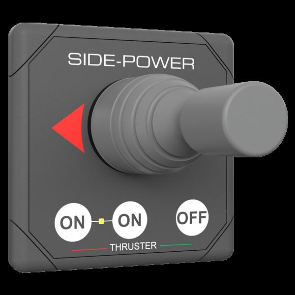 Panel, Joystick Thruster Control 12/24v Grey, Round Cutout, 5-Wire, Reset Auto-Off