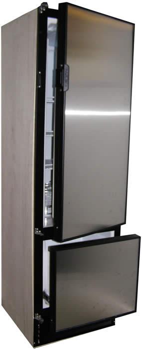 Nova Kool RFU7300D 6.8 cu.ft. 192 Liter Two Door Refrigerator with Freezer drawer on the bottom DC Only.