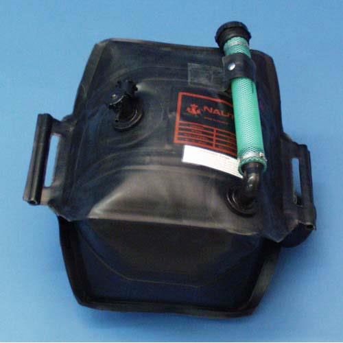 Portable Outboard Tank, 13 Gallon with Fittings: Shut-Off Valve & 90 Degree Fill