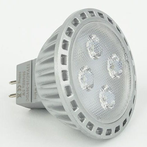 MR16 (GU5.3) LED Bulb, 10-30VDC, 5W, Warm