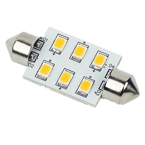 SV8.5 festoon LED bulb, 37mm, Warm white, 6 x LED