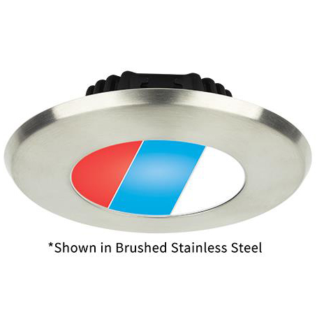 Tri-Color Sigma Large, Polished Stainless Steel