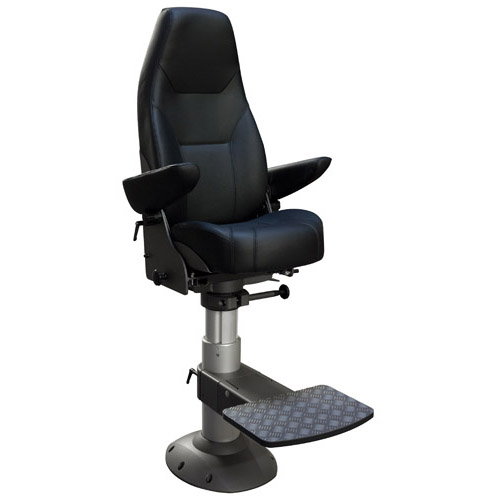 Norsap 1500 Helm Chair, Seat Height 410mm Fixed Column, Flange Base, No Footrest, Charcoal