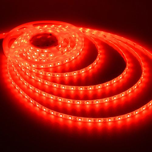 Flexible LED Strip Tape HO (High Output) F-Series 12V, Red, 16' Length, 3M Tape, IP66