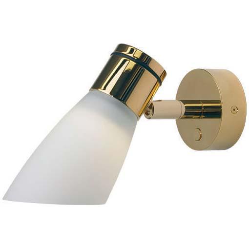 Lassan LED Reading Light, Gold Integrated Dimmer Switch, 10-30VDC, 4W