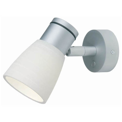 Munich, Matte Chrome with White Glass Shade Dimmer, 3 x 1W Warm White LEDs, 10-30VDC
