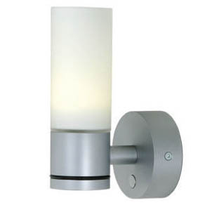 Sylt Matte Chrome, White Glass, Warm White, Dimmable with Switch, 10-30VDC