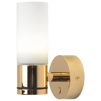 Sylt Gold, White Glass, Dimmable with Switch, Warm White, 10-30VDC