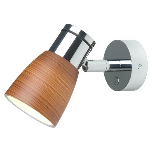 Munich, Chrome with Brown Glass Shade, Built-in Dimmer, 3 x 1W Warm White LEDs, 10-30VDC