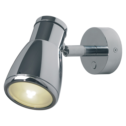 Munich, Chrome with Chrome Metal Shade & Switch Built-in Dimmer, 3 x 1W Warm White LEDs, 10-30VDC