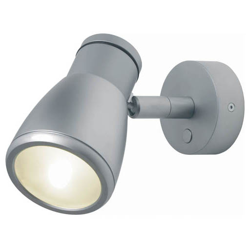 Munich, Matte Chrome, Shade & Switch Built-in Dimmer, 3 x 1W Warm White LEDs, 10-30VDC