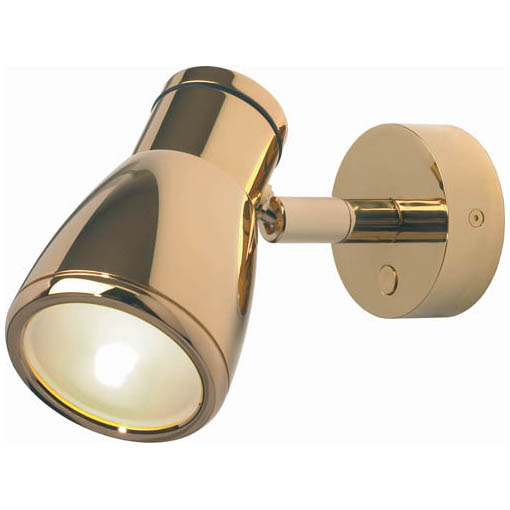 Munich, Gold with Gold Metal Shade & Switch Built-in Dimmer, 3 x 1W Warm White LEDs, 10-30VDC