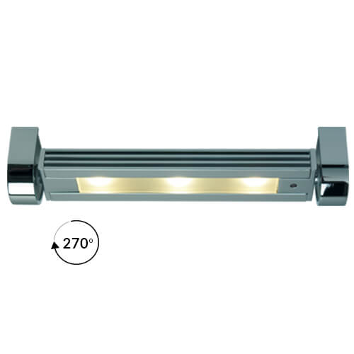 Saxony Small Rotating Light (270°), Chrome, Warm White, 10-30VDC, Dimmable, 3W LED