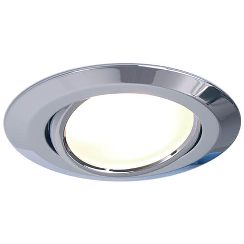 Leer LED Adjustable Downlight, Chrome, 10-30VDC Warm White, Slave (dimmable with Master), IP20