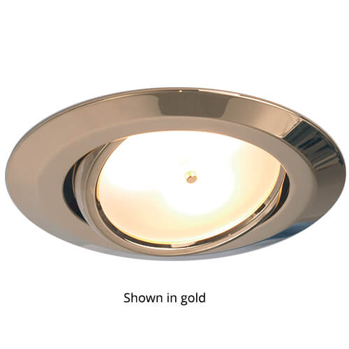Leer LED Adjustable Downlight, Matte Chrome,IP20 10-30VDC, Warm White, Master (Dimmable)