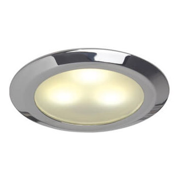Leer LED Downlight, Chrome, WW/Blue, 10-30VDC Slave (Dimmable with Master), IP20