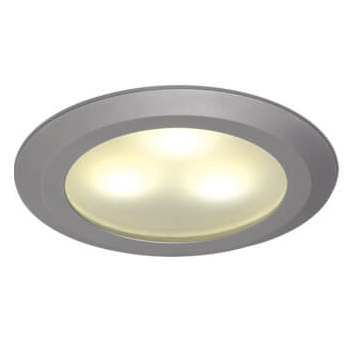 Leer LED Downlight, Matte Chrome, WW/Blue 10-30VDC, Slave (Dimmable with Master), IP20