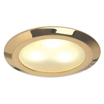Leer LED Downlight, Gold, WW/Blue, 10-30VDC Slave (Dimmable with Master), IP20