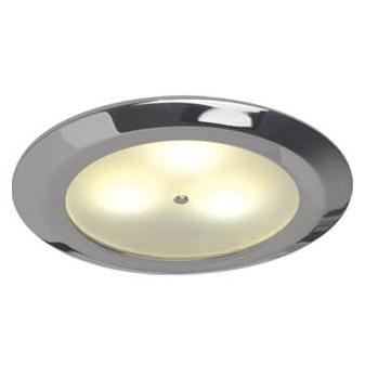 Leer LED Downlight, Chrome, WW/Blue, 10-30VDC Master (Dimmable), IP20