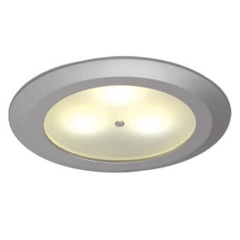 Leer LED Downlight, Matte Chrome, WW/Blue 10-30VDC, Master (Dimmable), IP20