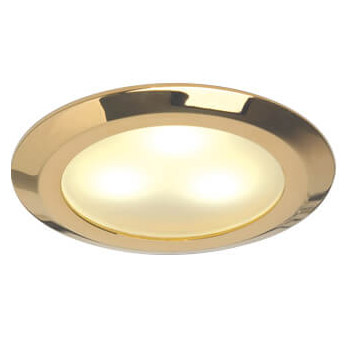 Leer LED Downlight, Gold, 10-30VDC Warm White, Slave (dimmable with Master), IP20