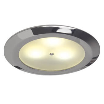 Leer LED Downlight, Chrome, 10-30VDC Warm White, Master (Dimmable), IP20