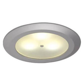 Leer LED Downlight, Matte Chrome, 10-30VDC Warm White, Master (Dimmable), IP20