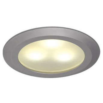 Leer LED Downlight, Matte Chrome, WW/Red, 10-30VDC Slave (dimmable with Master), IP20
