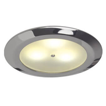 Leer LED Downlight, Chrome, WW/Red, 10-30VDC Master (Dimmable), IP20