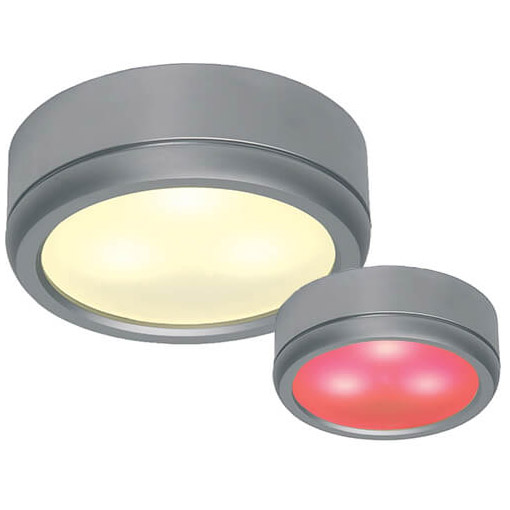 Norden LED Slave, 10-30VDC, 3W, Warm White/Red Matte Chrome, Controlled with Norden Master