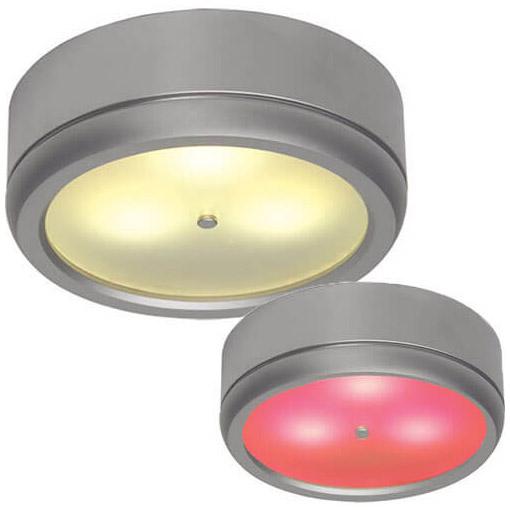 Norden (Master) Bi-Color LED Spot, Warm White/Red Matte Chrome, 10-30VDC, IP20