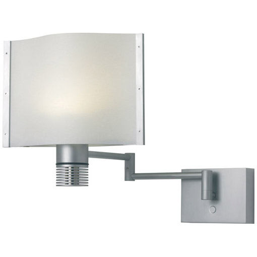Lubeck, LED, Matte Chrome, White Shade Built-in Dimmer, 10-30VDC