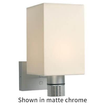 Jana LED Wall Sconce, Chrome, White Shade Built-in Dimmer, 10-30VDC