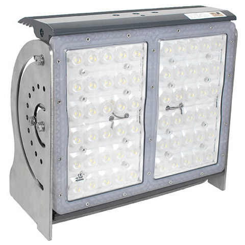 Pitmaster 60 LED Commercial Marine Deck Light 90-277VAC, 280W, 40° , Grey, IP68