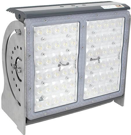 Pitmaster 60 LED Commercial Marine Deck Light 90-277VAC, 280W, 90°, Grey, IP68