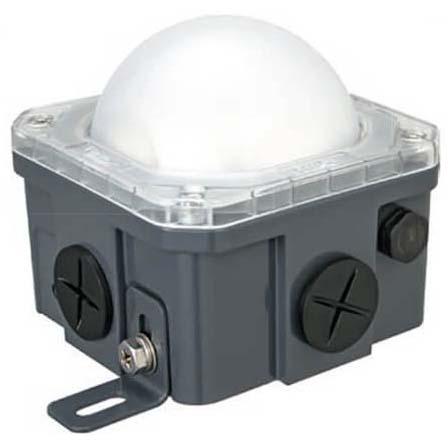 Offshore Series LED JBOX Light, 90-264VAC, 10W Alum Housing, PC Lens, Cool White LED, IP68