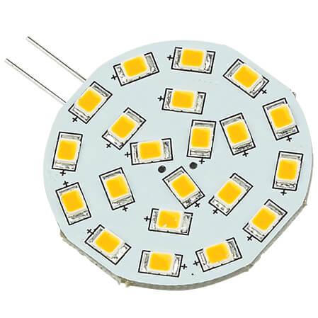 """Corona"" LED Replacement Bulb, Cool White 10-30VDC (3.0W), G4 Socket, Side Pin"