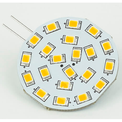 Corona G4 LED Bulb, Side-Pin, Warm White 10-30VDC, 21xLED, Bulk Packaging