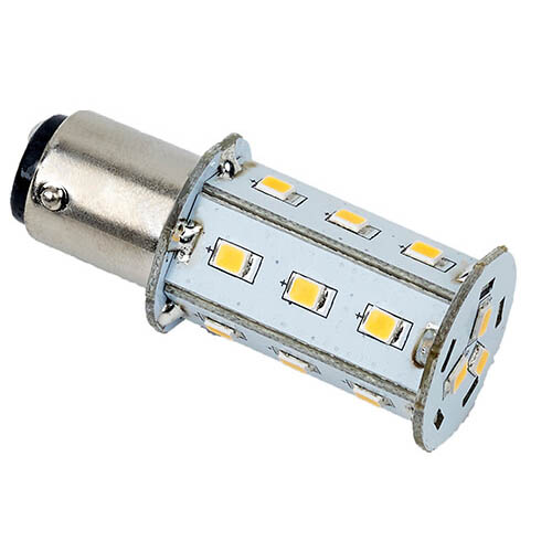 """Tower"" LED Replacement Bulb, Warm White 10-30VDC (2.5W), Omni-Directional, B15d Socket"