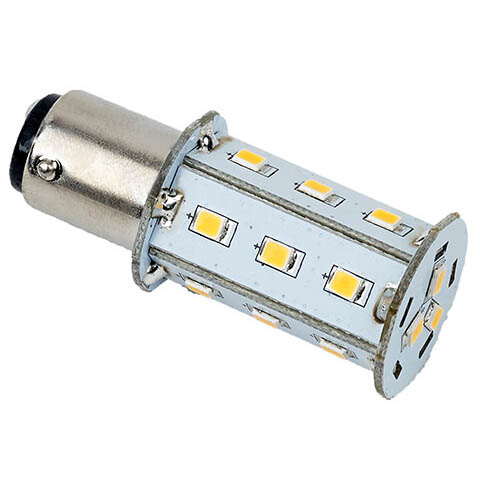 Tower Navigation Bayonet LED Bulb, Cool White 10-30VDC (2.5W), Omni-Directional, BAY15d Socket