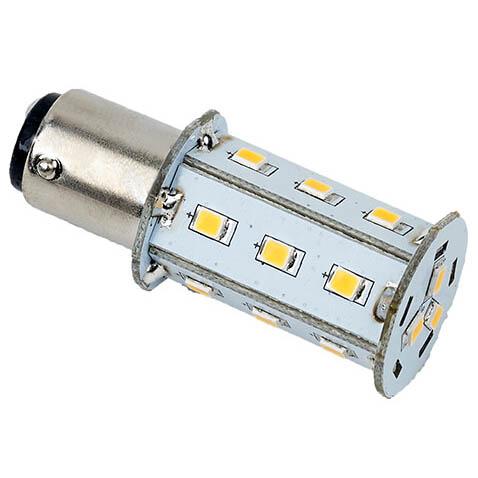 Tower Navigation Bayonet LED Bulb,Warm White 10-30VDC (3.0W), Omni-Directional, BAY15d Socket