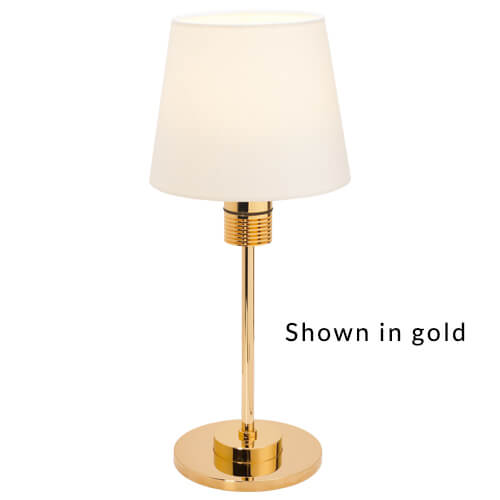 Kati Table Lamp w/Switch & Dimmer, Matte Chrome 90-264VAC, IP20