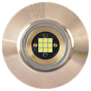 TIX202 White Flush-Fit Interchangeable Thru-Hull LED Underwater Light, 9-31VDC