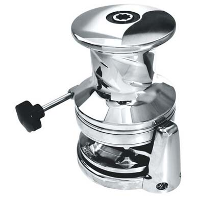 Project SX3.5 Round Base Capstan, Stainless Gypsy: CAT10-3/8HT, 24V/1700w