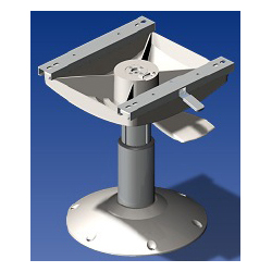 Norsap 1400 Seat Pedestal, 350mm (13.8 in.) Fixed Height, Spring Suspend, Anodized/White Base