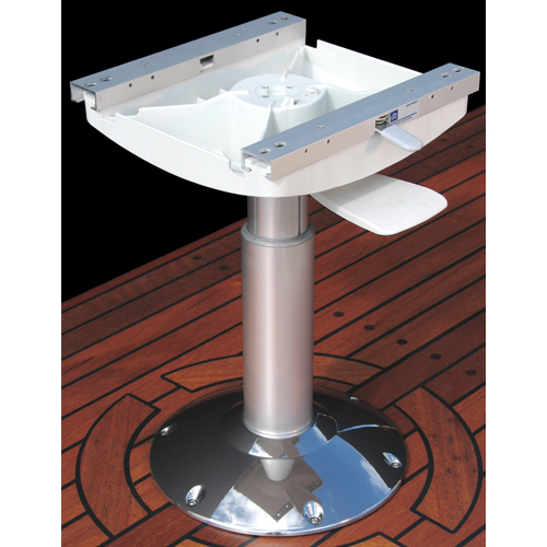 Norsap 1400BL Seat Pedestal, 350mm (13.8 in.) Fixed Height, Spring Suspend, Pol Alum/Chrome Base