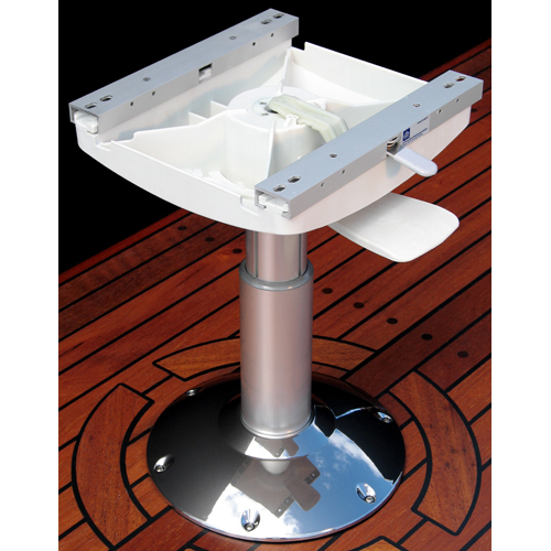Norsap 1476BL Seat Pedstl, 325-420mm/12.8-16.5 in. Adj Height, Gas Suspension, Pol Alum/Chromed Base